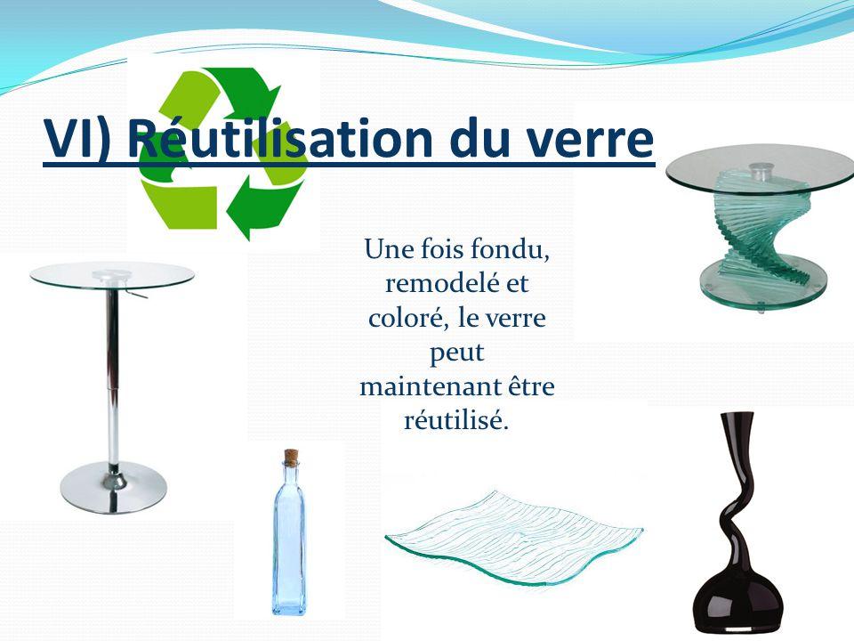 VI) Réutilisation du verre