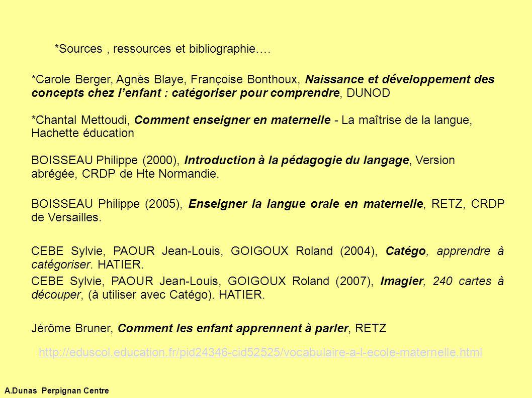 *Sources , ressources et bibliographie….