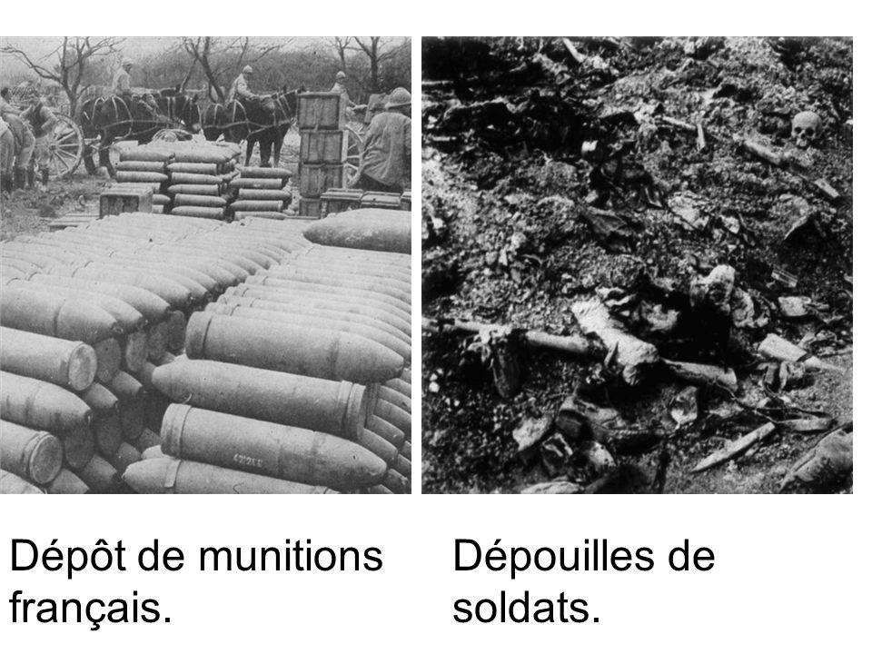 Dépôt de munitions français.