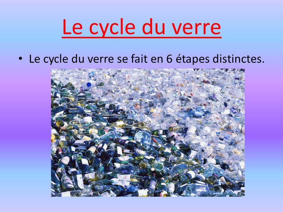Le cycle du verre se fait en 6 étapes distinctes.