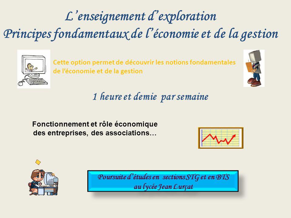 L'enseignement d'exploration Principes fondamentaux de l'économie et de la gestion