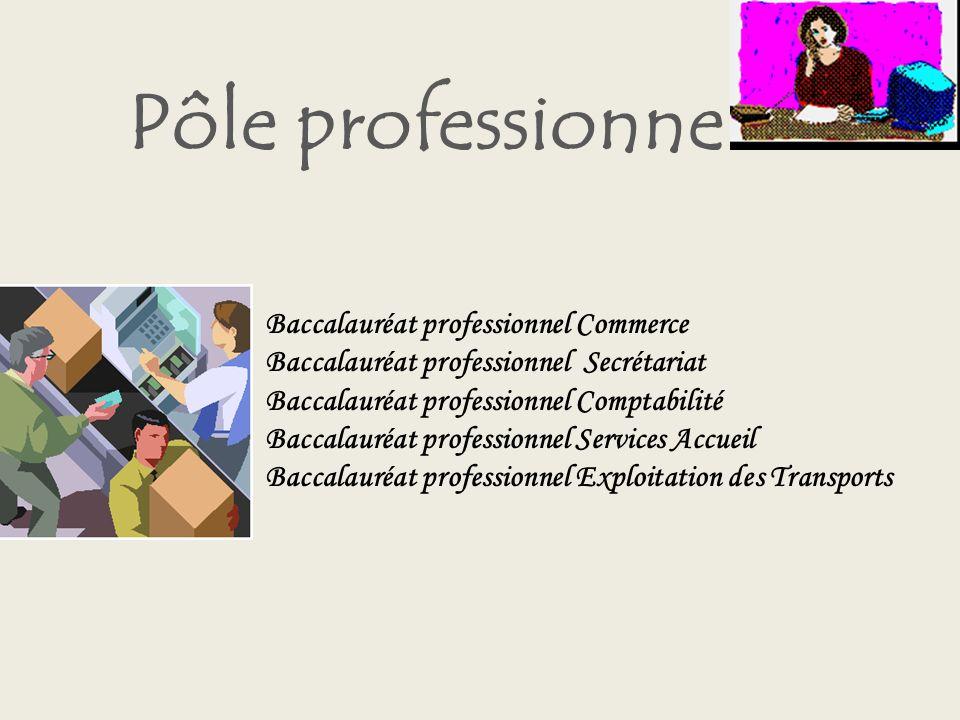 Pôle professionnel Baccalauréat professionnel Commerce
