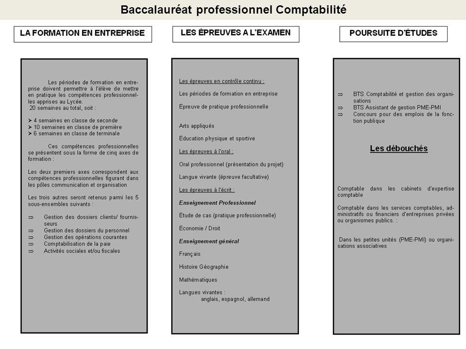 Baccalauréat professionnel Comptabilité