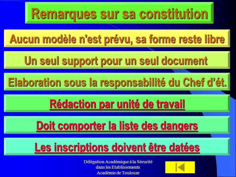Remarques sur sa constitution