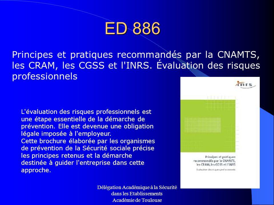 ED 886. Principes et pratiques recommandés par la CNAMTS, les CRAM, les CGSS et l INRS. Évaluation des risques professionnels.