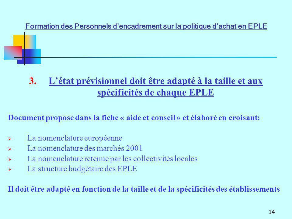 Formation des Personnels d'encadrement sur la politique d'achat en EPLE