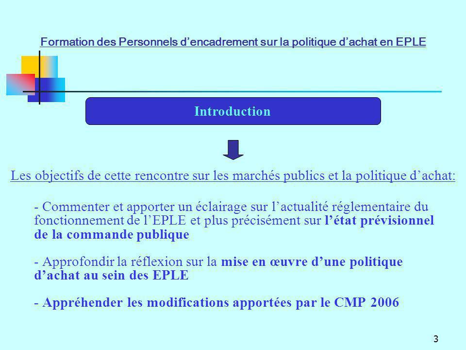 - Appréhender les modifications apportées par le CMP 2006