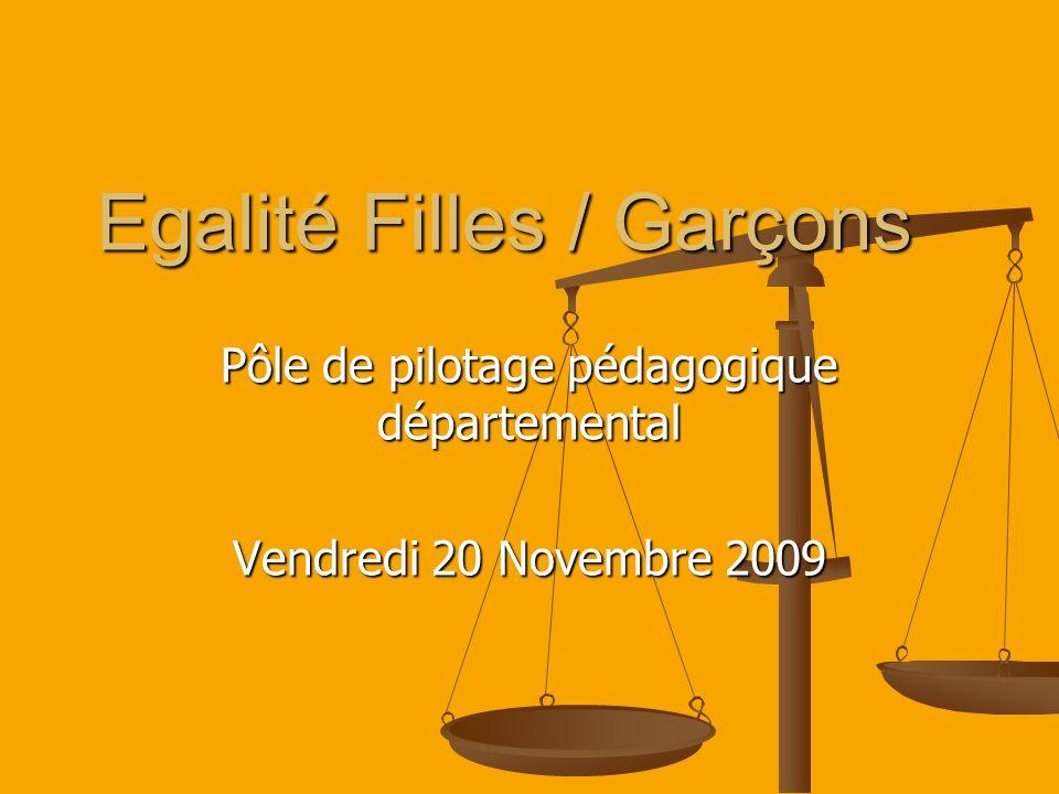 Egalité Filles / Garçons