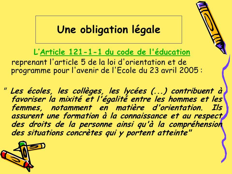 L'Article 121-1-1 du code de l éducation