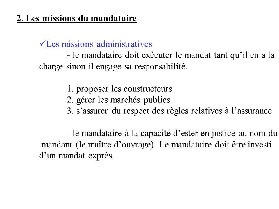 2. Les missions du mandataire
