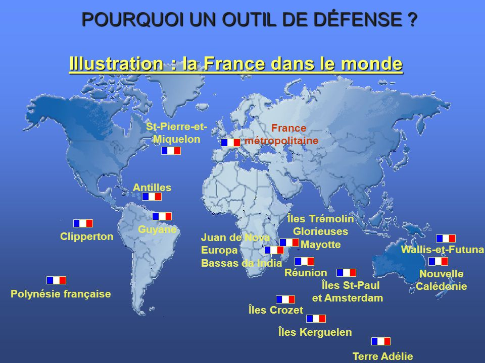 Illustration : la France dans le monde St-Pierre-et-Miquelon