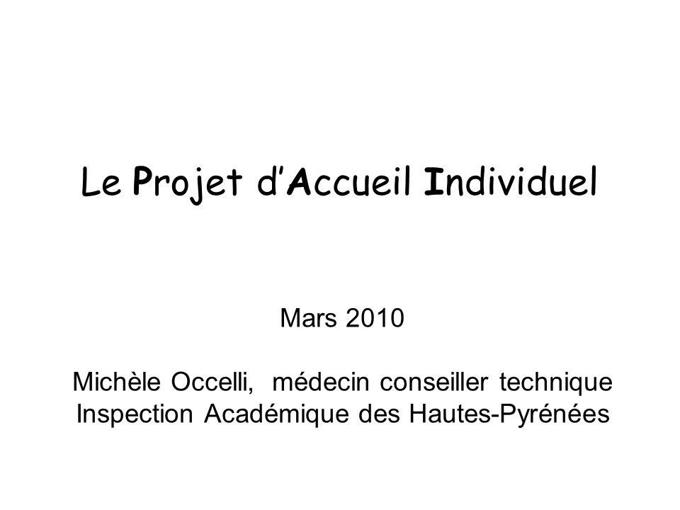 Le Projet d'Accueil Individuel