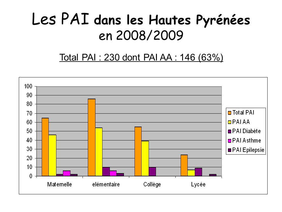 Les PAI dans les Hautes Pyrénées en 2008/2009