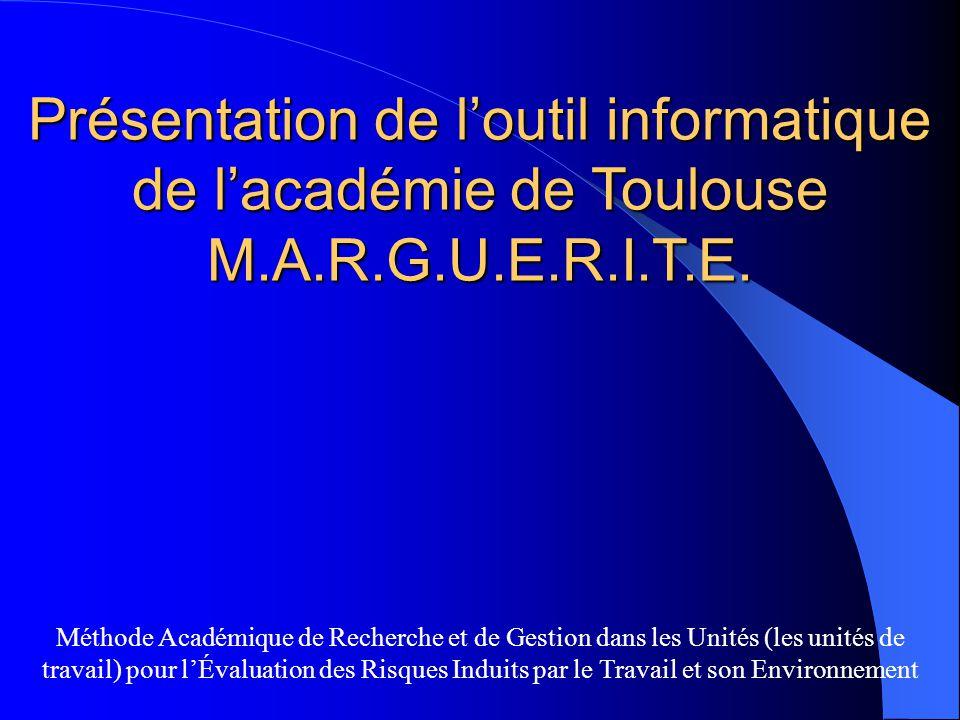 Présentation de l'outil informatique de l'académie de Toulouse M. A. R