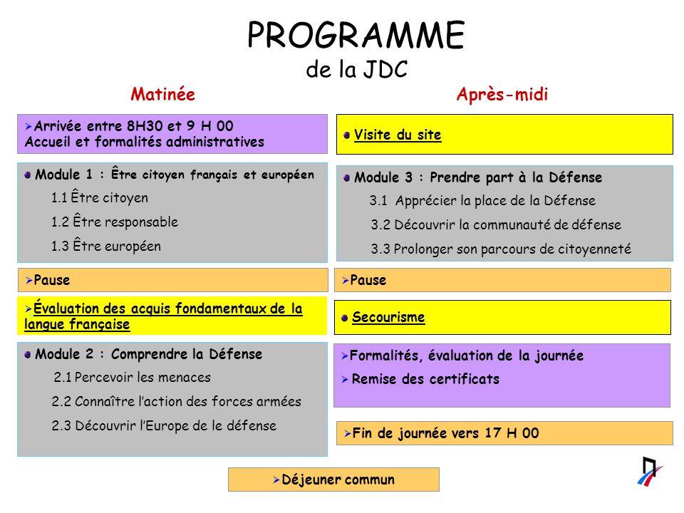 PROGRAMME de la JDC Matinée Après-midi