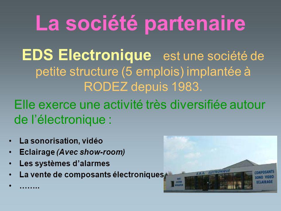 La société partenaire EDS Electronique est une société de petite structure (5 emplois) implantée à RODEZ depuis 1983.