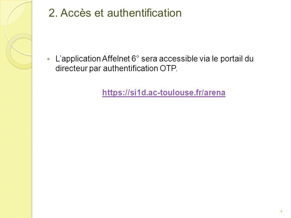 2. Accès et authentification