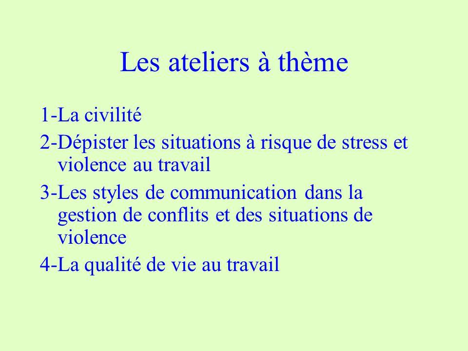 Les ateliers à thème 1-La civilité