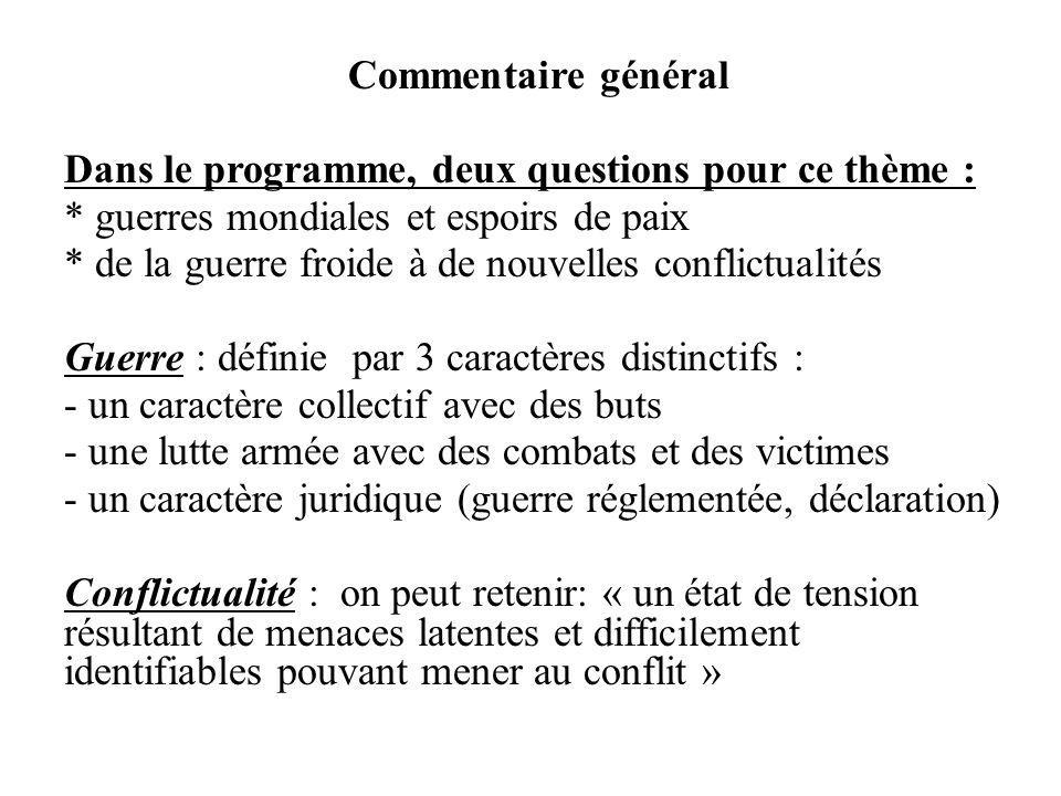 Dans le programme, deux questions pour ce thème :