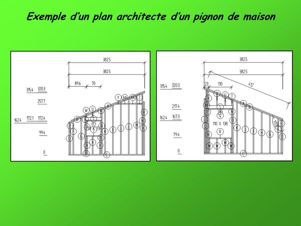 Exemple d'un plan architecte d'un pignon de maison