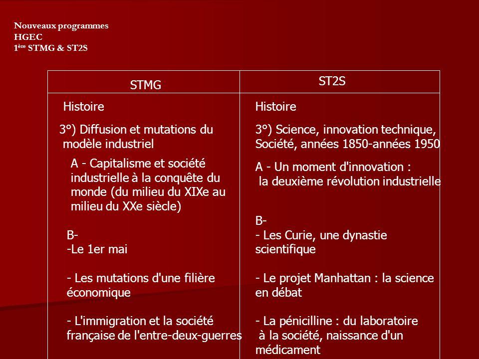 3°) Diffusion et mutations du modèle industriel