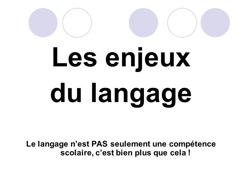 Les enjeux du langage.
