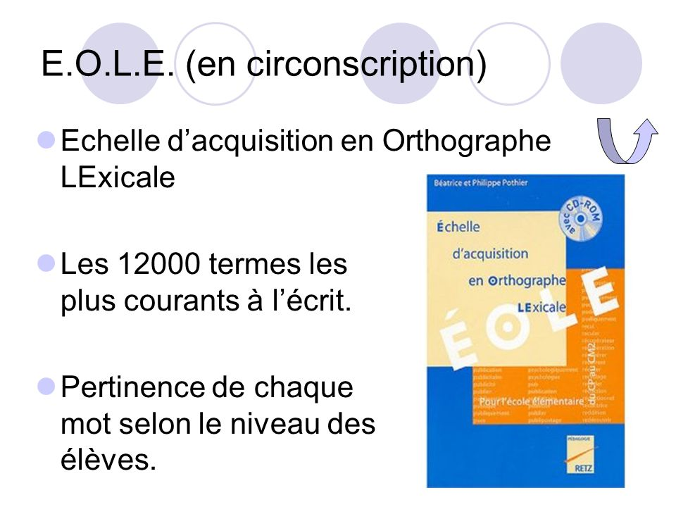 E.O.L.E. (en circonscription)