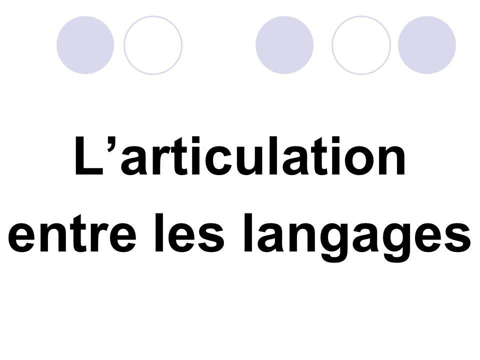 L'articulation entre les langages