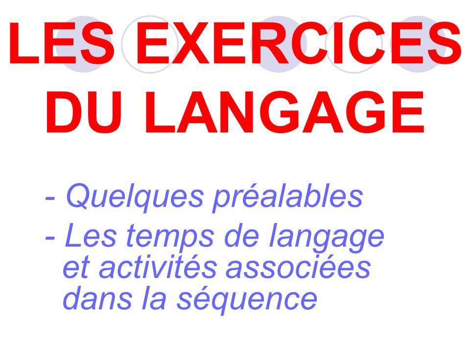 LES EXERCICES DU LANGAGE