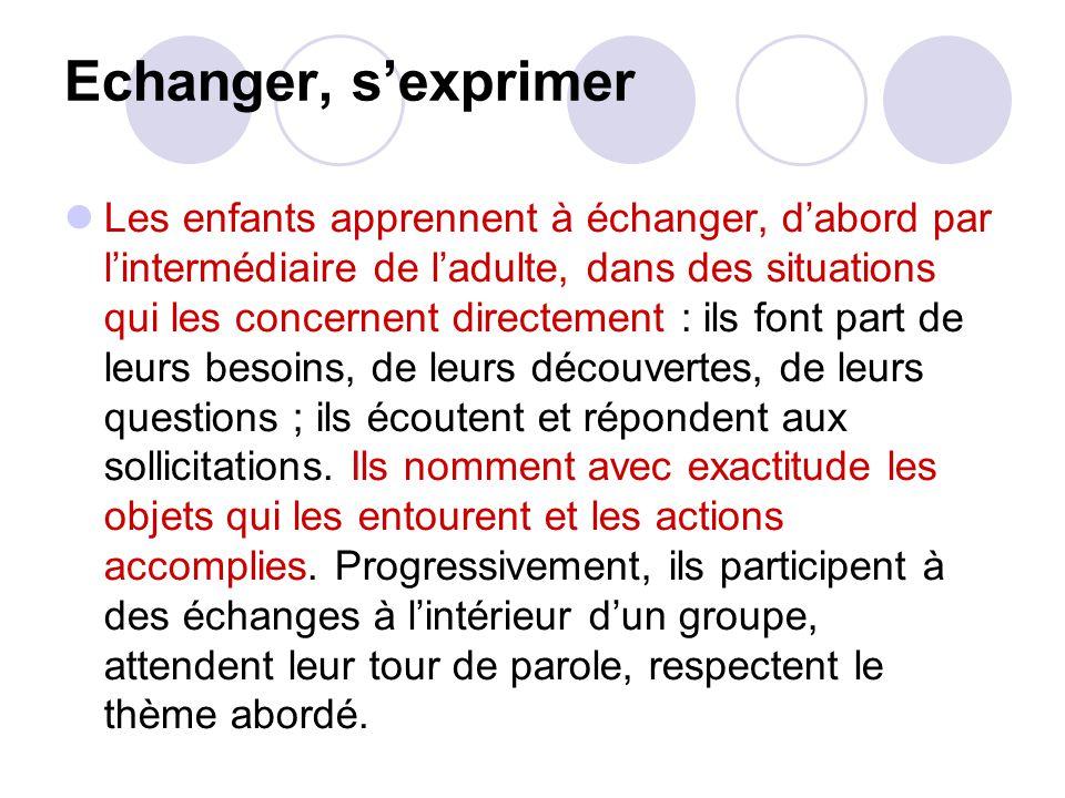 Echanger, s'exprimer