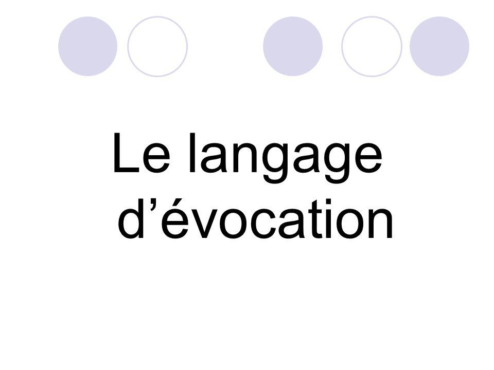 Le langage d'évocation