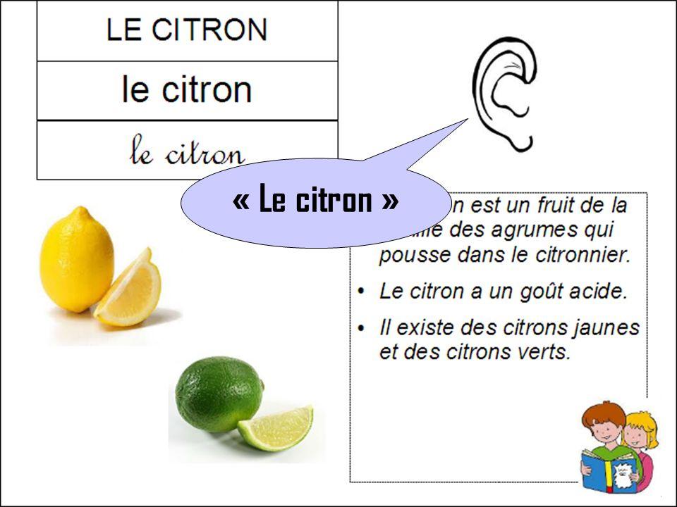 « Le citron »