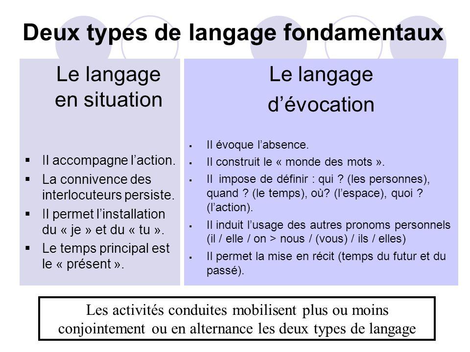 Deux types de langage fondamentaux