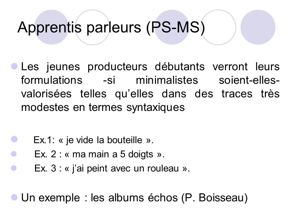 Apprentis parleurs (PS-MS)