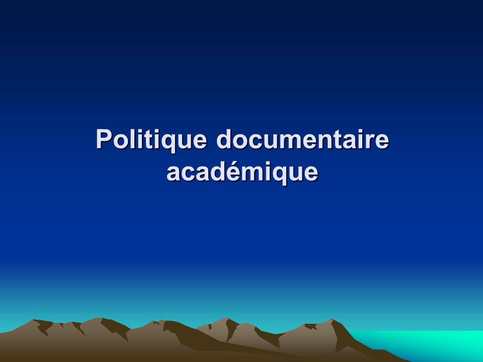 Politique documentaire académique