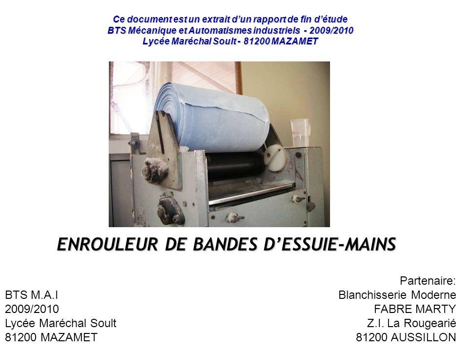 ENROULEUR DE BANDES D'ESSUIE-MAINS