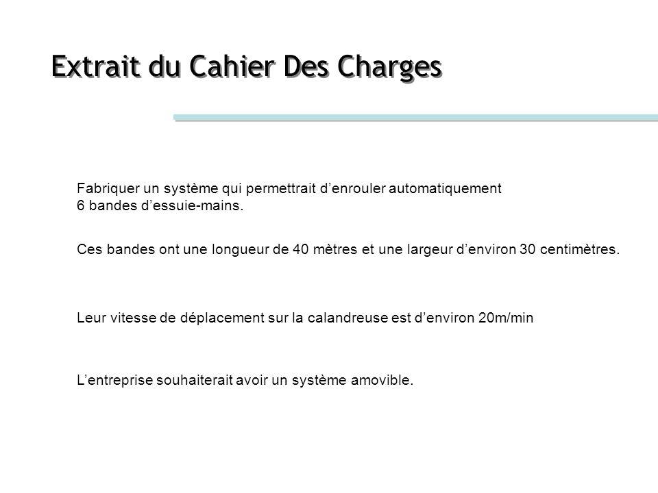 Extrait du Cahier Des Charges