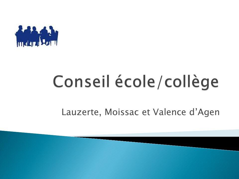 Conseil école/collège