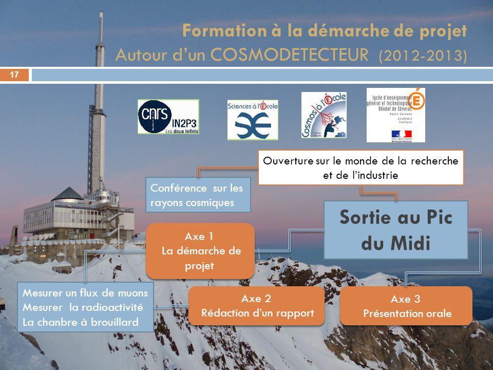 Formation à la démarche de projet Autour d'un COSMODETECTEUR (2012-2013)