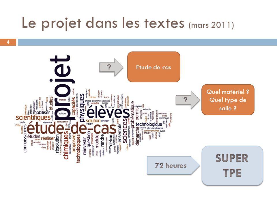Le projet dans les textes (mars 2011)