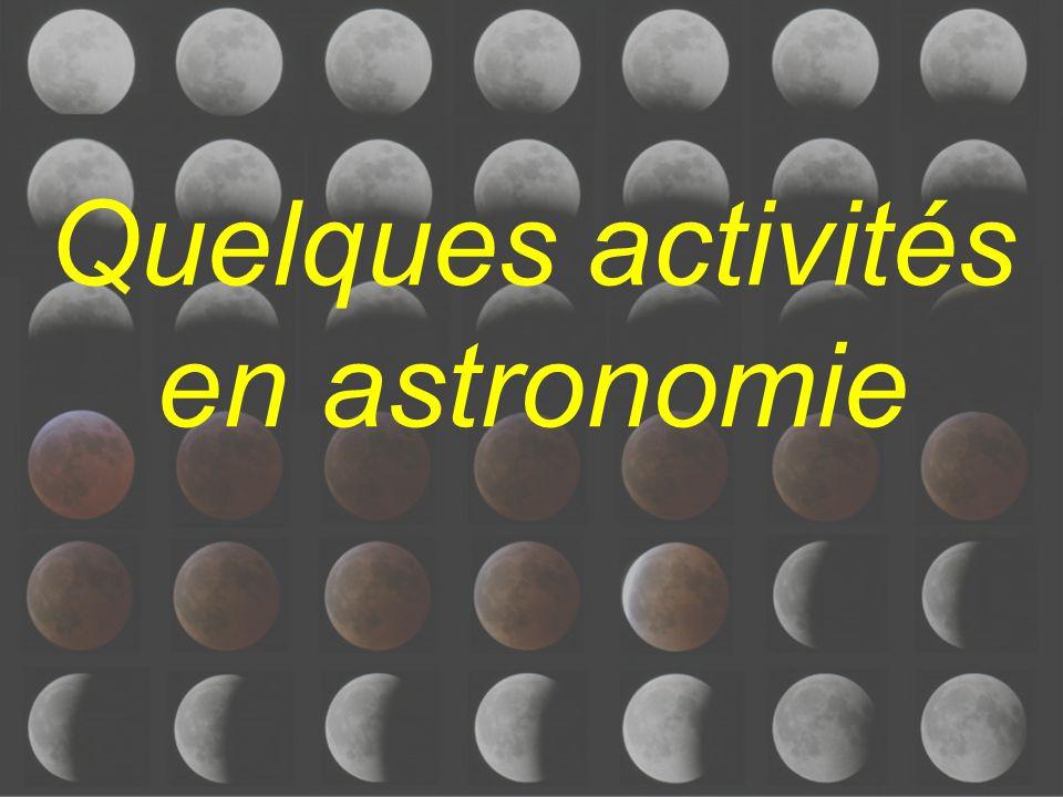 Quelques activités en astronomie