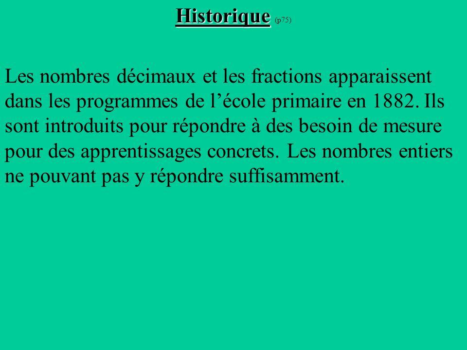 Historique (p75)