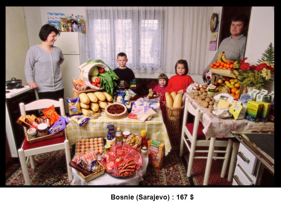 Bosnie (Sarajevo) : 167 $