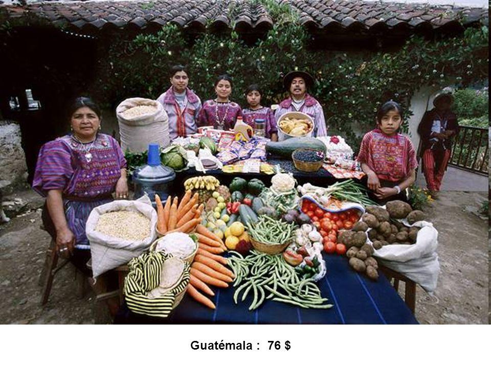 Guatémala : 76 $