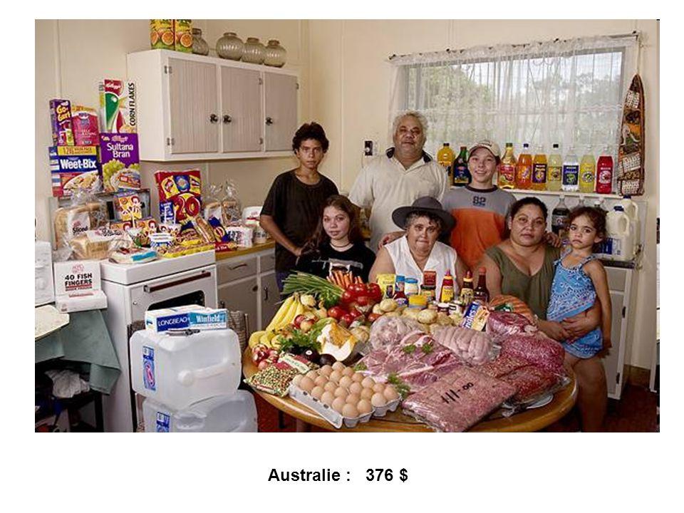 Australie : 376 $