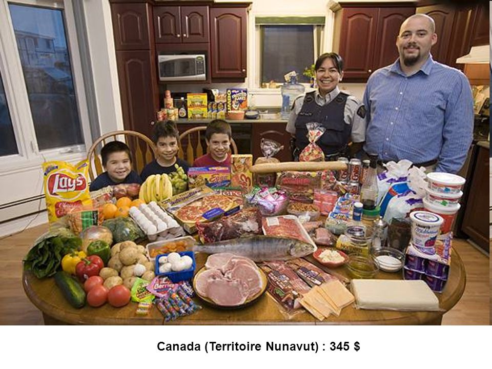 Canada (Territoire Nunavut) : 345 $