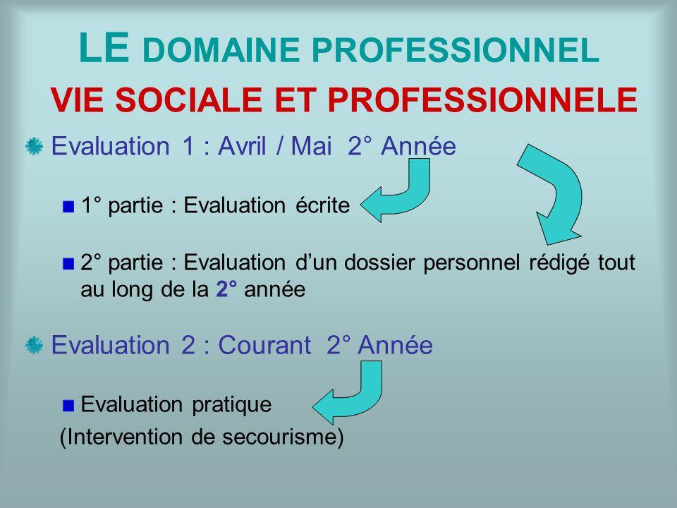 LE DOMAINE PROFESSIONNEL
