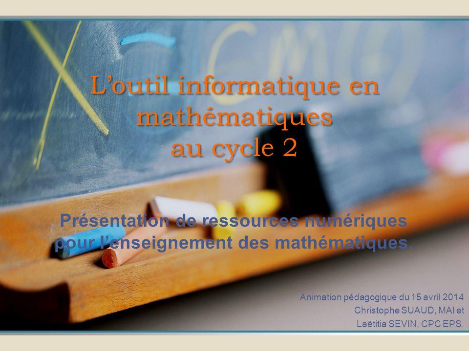 L'outil informatique en mathématiques au cycle 2