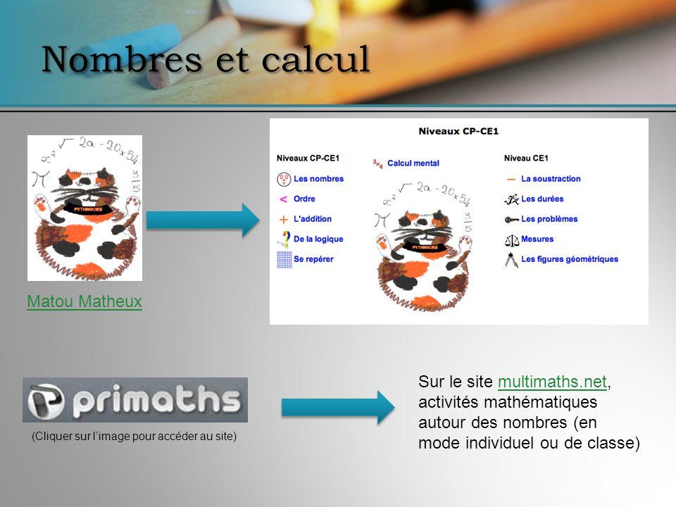 Nombres et calcul Matou Matheux