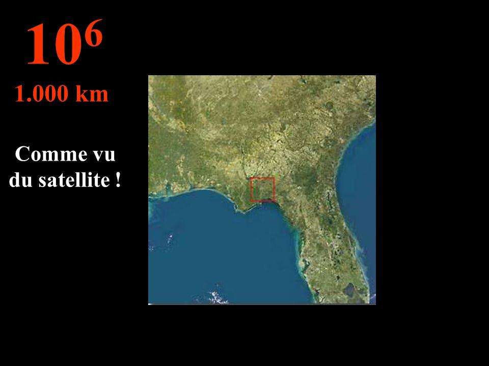 106 1.000 km Comme vu du satellite !